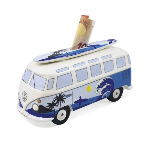 VW T1 Bus Money Bank with Surf Board (1:18) - Surf