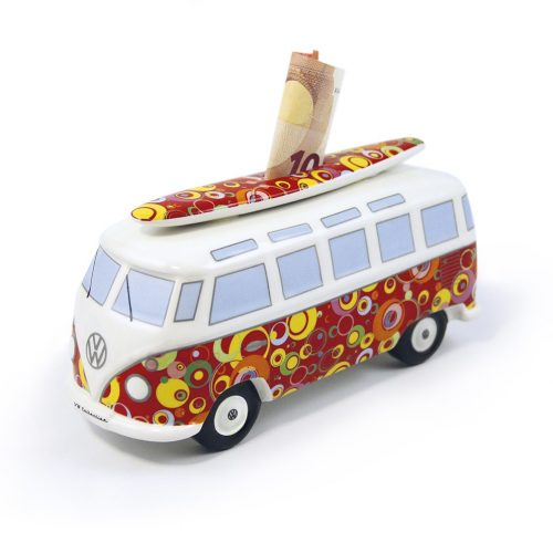 VW T1 Bus Money Bank with Surf Board (1:18) - Bubble