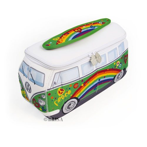 VW T1 Bus 3D Neoprene Universal Bag - Peace/green