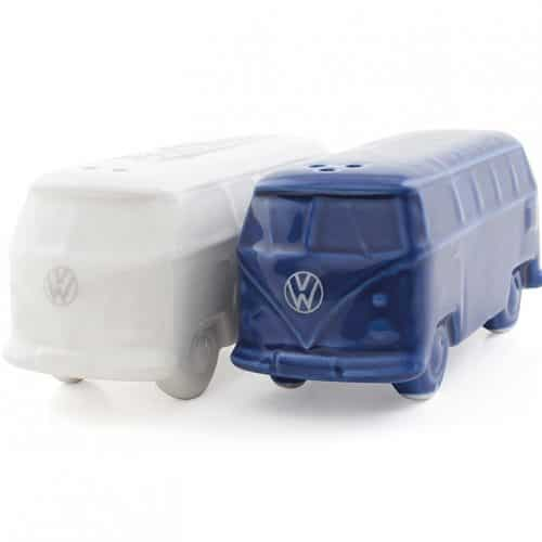 VW T1 Bus 3D Salt & Pepper Shakers - white/blue