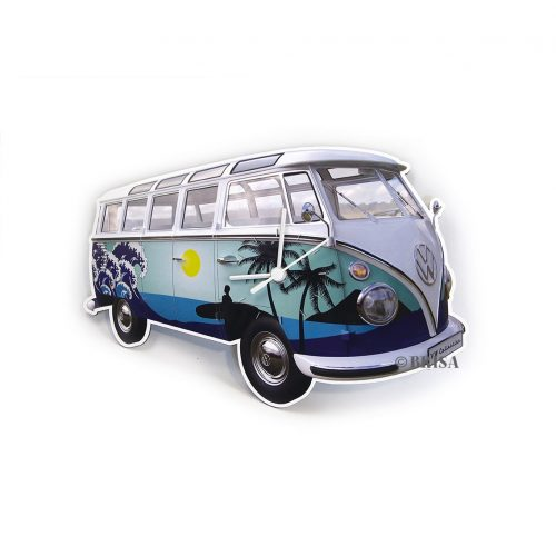 VW T1 Bus Wall Clock 28x18x2